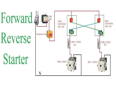 reversing motor starter wiring diagram wiring