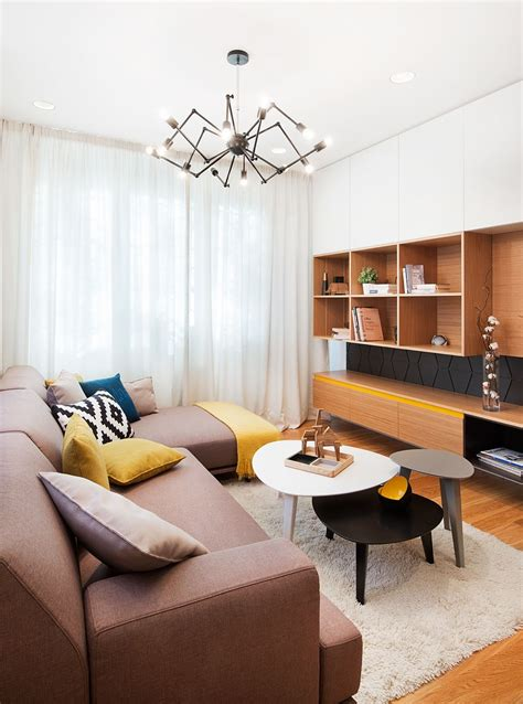 A Mid Century Inspired Apartment With Modern Geometric Accents by A Mid Century Inspired Apartment With Modern Geometric Accents