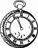 Pocket Clipart Alice Wonderland Wrist Outline Clip Coloring Line Pocketwatch Watches Cliparts Transparent Clipartbest sketch template