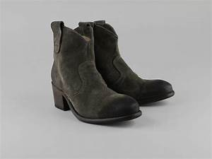 Chaussures Atelier Voisin / DRAGO / Boots Taupe Croute ...