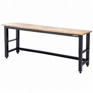 HUSKY 8 ft Solid Wood Top Workbench-G9600-US1 - The Home