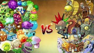 pvz 2 epic todas las plantas vs todos los zombies all plants vs all zombies лучшие