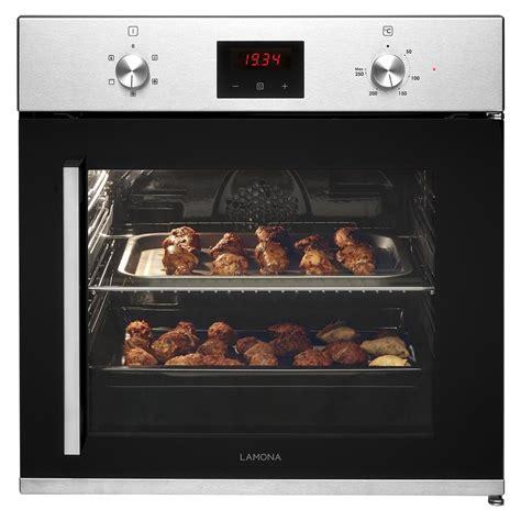 lamona  hand side opening single fan oven stainless