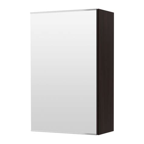lill 197 ngen mirror cabinet with 1 door black brown ikea