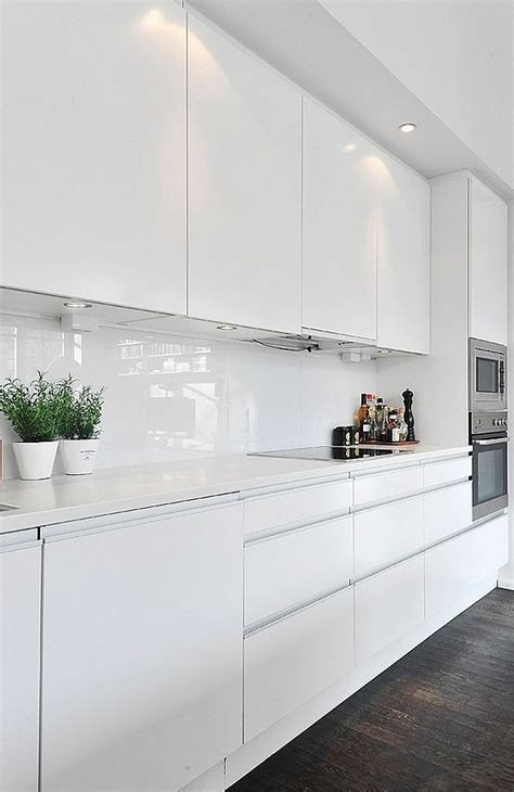 modern kitchens with white cabinets black white contemporary loft in stockholm sweden 9248