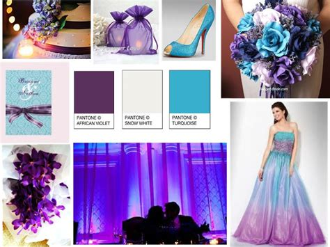 Violet Purple, Turquoise Blue, And Snow White