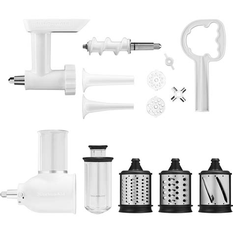kitchenaid mixer grinder attachment stand shredder sausage pack mixers stuffer hub slicer attachments power parts replacement quart capacity super silver