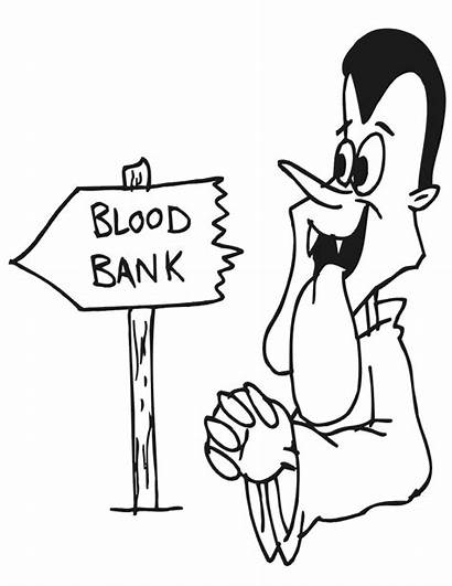 Coloring Pages Vampire Blood Dracula Bank Printable