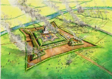 siege fortress siege of haddington 1548 earth and timber fortress
