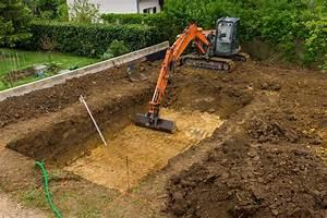 terrassement piscine prix moyen etapes reglementation With comment faire terrassement pour parking