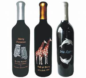 Personalized engraved wine bottles deep etched custom for Customize wine bottles