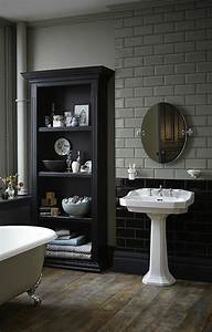 Stunning salle de bain retro noir et blanc images for Awesome idee deco entree maison 15 choisissez un joli lavabo retro pour votre salle de bain