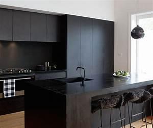 A, Matte, Black, Kitchen, Makes, A, Bold, Statement, In, This, Auckland, Villa