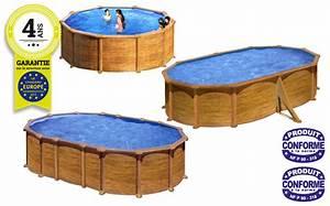 Piscine Hors Sol Acier Imitation Bois : piscine de marque gr mauritius amazonia d cor bois ~ Dailycaller-alerts.com Idées de Décoration