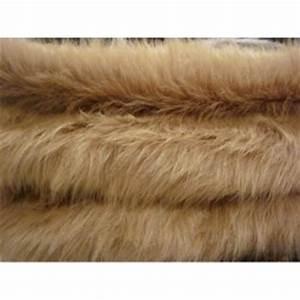 Fausse Fourrure Tissu : tissu fausse fourrure synth tique poils longs beiges a0002 ~ Teatrodelosmanantiales.com Idées de Décoration