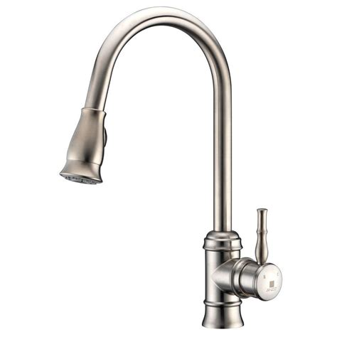 polished nickel kitchen faucet delta cassidy single handle pull sprayer kitchen