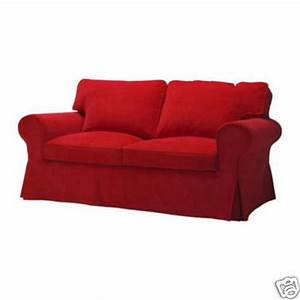 ikea ektorp 2 seat loveseat sofa slipcover cover leaby red With red corduroy sectional sofa