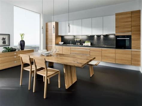 cuisine originale en bois 73 idées de cuisine moderne avec îlot bar ou table à manger
