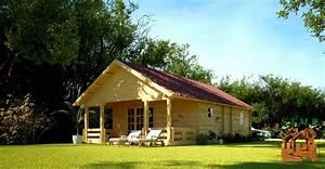 Vente Chalet Bois Habitable : chalet en kit haut de gamme harfleur avec terrasse couverte ~ Melissatoandfro.com Idées de Décoration
