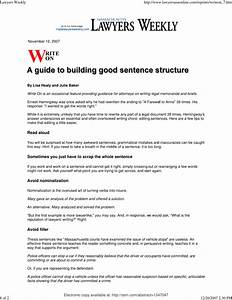 Pdf  A Guide To Building Good Sentence Structure