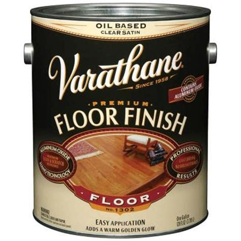 Varathane Floor Finish Satin by Varathane 1 Gal Clear Satin 350 Voc Based Floor