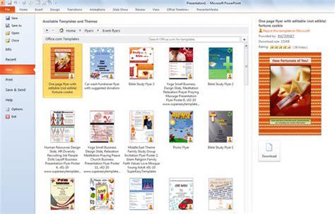 flyer templates  powerpoint
