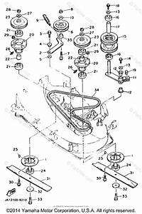 Yamaha Lawn Tractor 1989 Oem Parts Diagram For Cutter Deck
