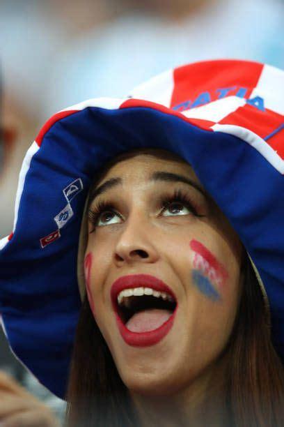 Female Fan Croatia Looks Prior The Fifa