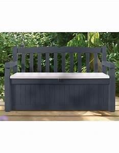 Coffre De Terrasse : coffre banc de jardin ou terrasse gris anthracite 265 l en pvc ~ Teatrodelosmanantiales.com Idées de Décoration