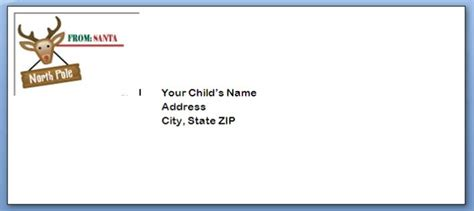 printable envelope templates north pole