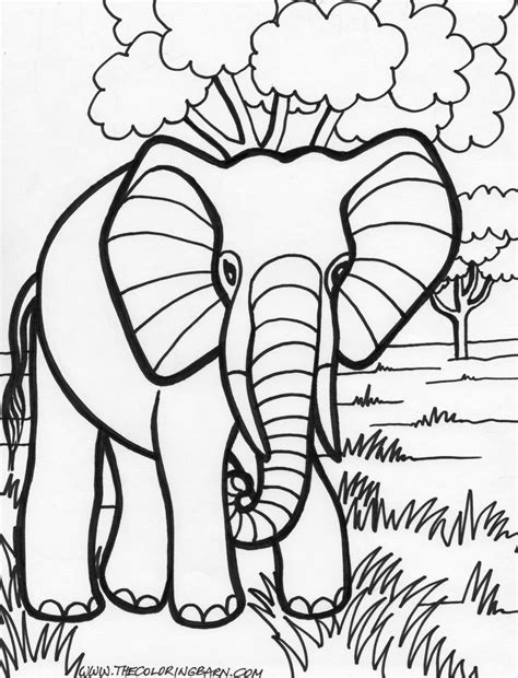 jarvis varnado  elephant coloring pages  kids