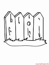 Coloring Pages Fence Fencing Printable Sheet Fences Buildings Sheets Results Powered sketch template