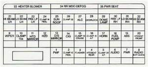 Cadillac Catera  1997 - 2001  - Fuse Box Diagram