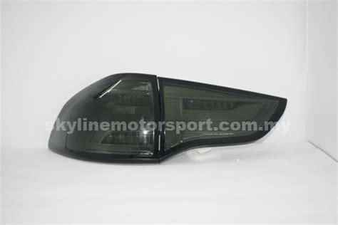 mitsubishi pajero sport 09 led t l light bar audi style black 171 skyline motorsport sdn bhd