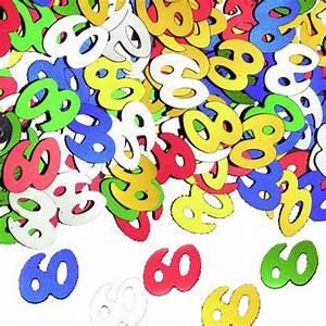 Deco Table Anniversaire 60 Ans : confettis de table anniversaire 60 ans ~ Dallasstarsshop.com Idées de Décoration