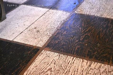 cool cheap floor ls put down plywood stain tape off paint black and white