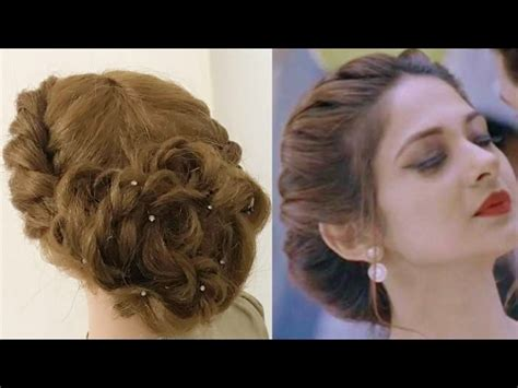 beautiful twist hairstyle easy party hairstyles youtube