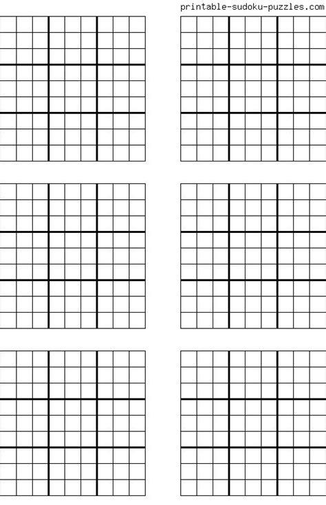 printable blank sudoku grids  images sudoku