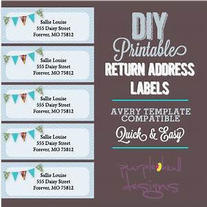pennant banner bunting return address labels avery template With downloadable return address labels
