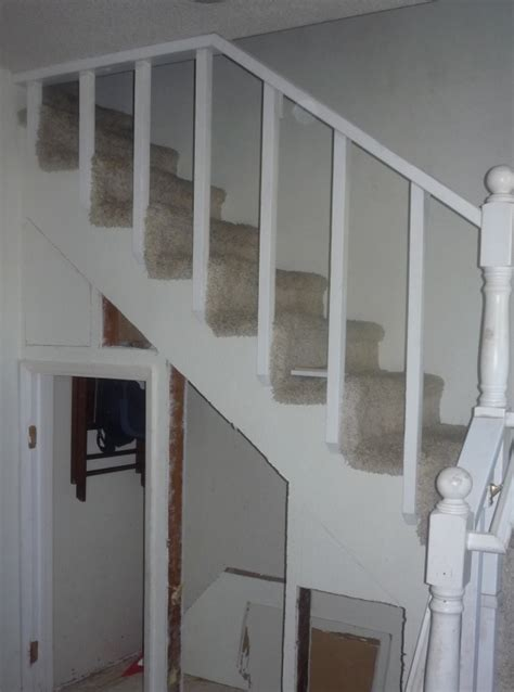 modifying studs  staircase  open    closet
