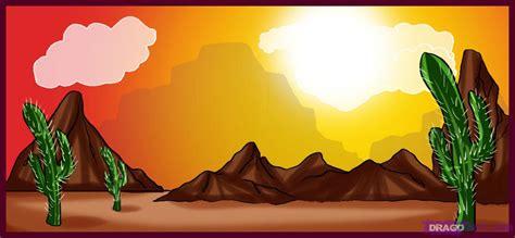 drawing  desert scene added  dawn march