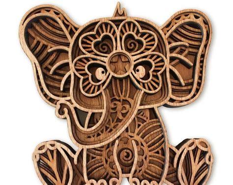 Elephants svg, elephant family, elephant monogram svg files. Layered Mandala Baby Elephant Svg Free Ideas - Layered SVG ...