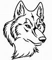 line art wolf head - Google Search | Loup dessin, Dessin ...