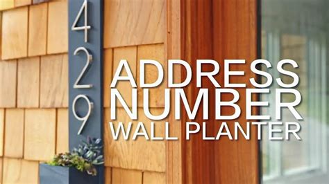 address number wall planter hgtv happy youtube