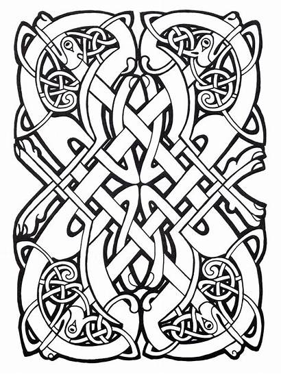 Celtic Coloring Abstract Complex Pages Adult Designs
