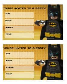 LEGO Batman Free Printable Movie Invitations