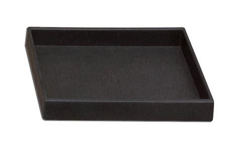 (12) Stackable Plastic Black Tray Half Size 1