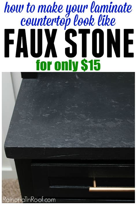 how to make laminate countertops look like faux