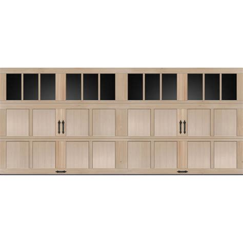 ideal door rec lites carriage house wood mhh  ft