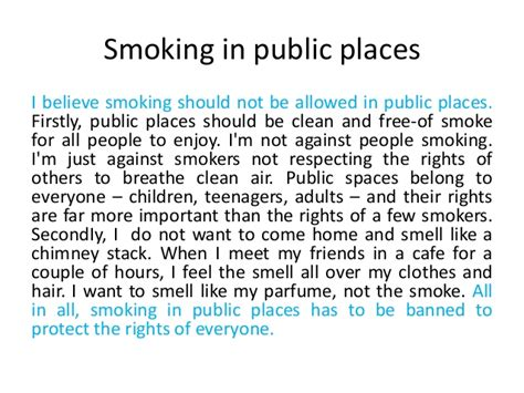 smoking should be banned essay how to write an opinion paragraph